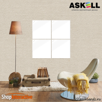 Доска магнитно-маркерная Askell Lux 45x45 (S045045-010) - Askell.Moscow. Аскелл.Москва. GlassBoards.ru