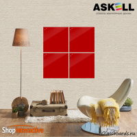Доска магнитно-маркерная Askell Lux 45x45 (S045045-031) - Askell.Moscow. Аскелл.Москва. GlassBoards.ru