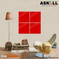 Доска магнитно-маркерная Askell Lux 45x45 (S045045-032) - Askell.Moscow. Аскелл.Москва. GlassBoards.ru