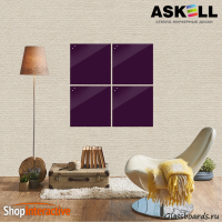 Доска магнитно-маркерная Askell Lux 45x45 (S045045-040)  - Askell.Moscow. Аскелл.Москва. GlassBoards.ru