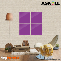 Доска магнитно-маркерная Askell Lux 45x45 (S045045-042) - Askell.Moscow. Аскелл.Москва. GlassBoards.ru