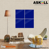 Доска магнитно-маркерная Askell Lux 45x45 (S045045-049) - Askell.Moscow. Аскелл.Москва. GlassBoards.ru