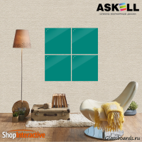 Доска магнитно-маркерная Askell Lux 45x45 (S045045-054) - Askell.Moscow. Аскелл.Москва. GlassBoards.ru