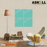 Доска магнитно-маркерная Askell Lux 45x45 (S045045-055) - Askell.Moscow. Аскелл.Москва. GlassBoards.ru