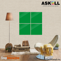 Доска магнитно-маркерная Askell Lux 45x45 (S045045-061) - Askell.Moscow. Аскелл.Москва. GlassBoards.ru