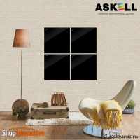 Доска магнитно-маркерная Askell Lux 45x45 (S045045-070) - Askell.Moscow. Аскелл.Москва. GlassBoards.ru